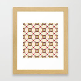 Arrow Heart Pattern Framed Art Print