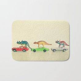 Dinosaurs Ride Cars Bath Mat