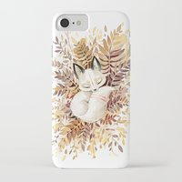 cuddle iPhone & iPod Cases featuring Slumber by Freeminds