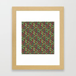 Colored Kithen Cutlery Framed Art Print