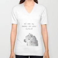 lama V-neck T-shirts featuring Daddy Lama by Lama BOO