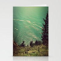 west coast Stationery Cards featuring West Coast  by Hannah Kemp