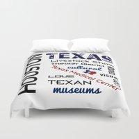 houston Duvet Covers featuring Houston Texas by raineon