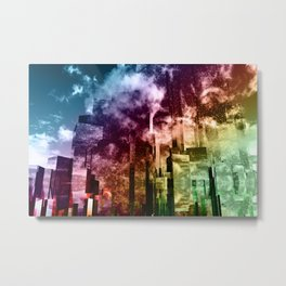 Q-City Three Metal Print