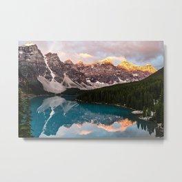 Banff Mountain Sunrise Metal Print