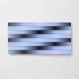 Black Blue and Purple Weave Pattern Metal Print