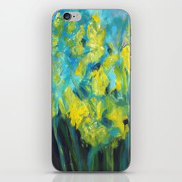 Impressionist summer yellow daffodil garden iPhone Skin