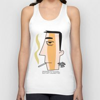 cigarettes Tank Tops featuring Cigarettes by Brian Sisson