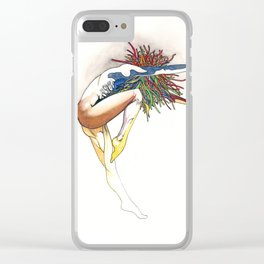 Firecracker, female dancer abstract, NYC artist Clear iPhone Case