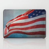 american flag iPad Cases featuring American Flag by Jai Johnson