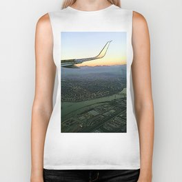 Landing together with the sun Biker Tank