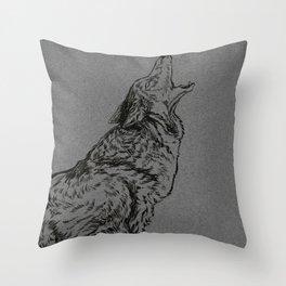Coyote (DirtyDecibels) Throw Pillow