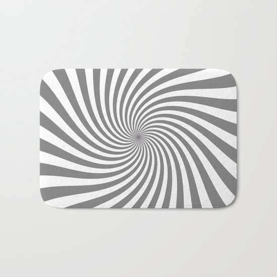Swirl (Gray/White) Bath Mat