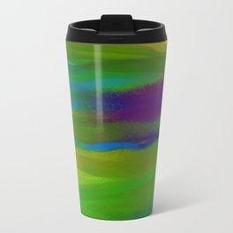 Green Mardi Gras Abstract Travel Mug