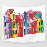 italy Wall Tapestries featuring Italy by Dheiuk