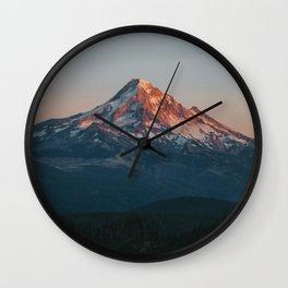 Mount Hood Sunset Wall Clock
