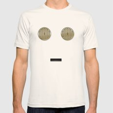minimalist c3po Mens Fitted Tee SMALL Natural