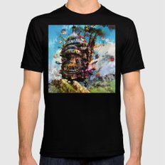 howl's moving castle Black MEDIUM Mens Fitted Tee