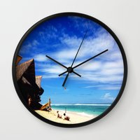 indonesia Wall Clocks featuring BALI, Indonesia  by BRIELLE LEVY
