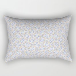 Patterns: Blue Orange Squigglies Rectangular Pillow