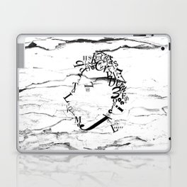 Typeface distressed Laptop & iPad Skin