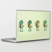 ninja turtles Laptop & iPad Skins featuring Teenage Mutant Ninja Turtles by Glimy