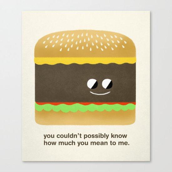 Cheesy Burger Canvas Print