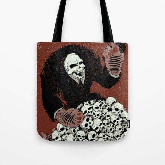 Monkey Skull Suit Tote Bag