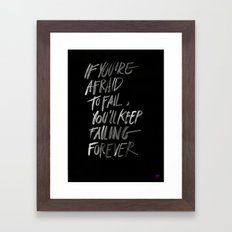 FAILFOREVER Framed Art Print
