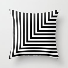 Black and White L Stripes // www.pencilmeinstationery.com Throw Pillow