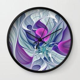 Colorful Life, Abstract Fractal Art Wall Clock