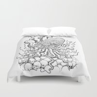cthulhu Duvet Covers featuring Cthulhu by Jose Solano