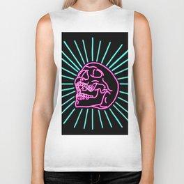 Pink Laughing Skull Biker Tank