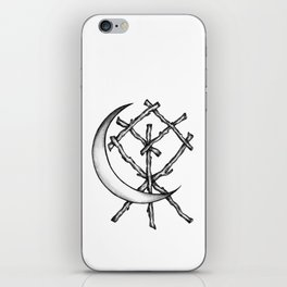 Crescent Moon Rune Binding iPhone Skin