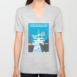 Tomorrowland Travel Poster Unisex V-Neck