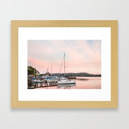 Lake Windermere at Sunset Framed Art Print