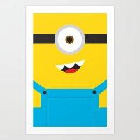 minion Art Prints featuring Minion by Cloz000
