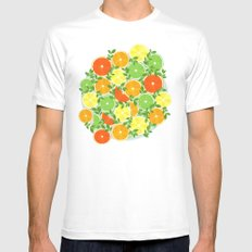A Slice of Citrus White Mens Fitted Tee MEDIUM