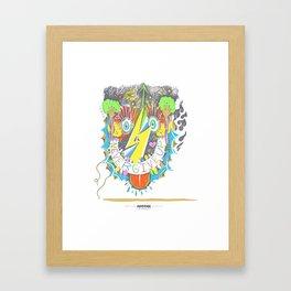 MADink Never Give Up Framed Art Print