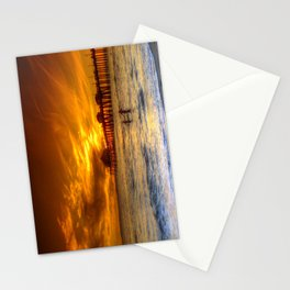 A Winter's Dip * Huntington Beach, California Stationery Cards