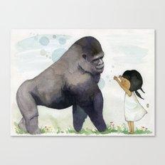 Hug me , Mr. Gorilla Canvas Print