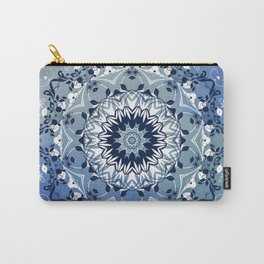 MAGICAL BLUE AND WHITE FLORAL MANDALA Carry-All Pouch