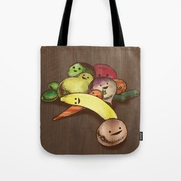 Fruit With Faces Tote Bag