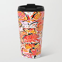 Lovely wall poppies Metal Travel Mug