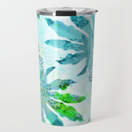 Tropical adventure - Blue Travel Mug