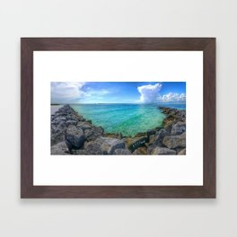 Emerald Jetties Framed Art Print