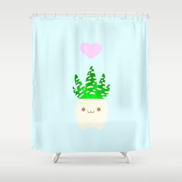 LOVE haworthia Shower Curtain