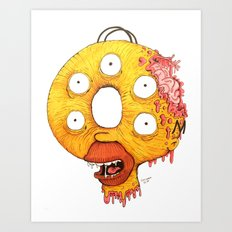 Donut Head Art Print