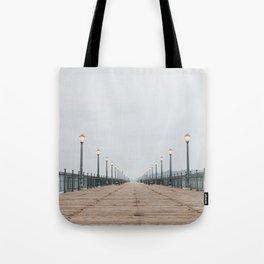 Morning at the Pier Tote Bag