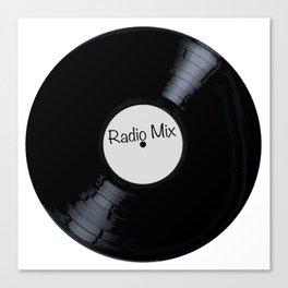 Radio Mix White Label Canvas Print